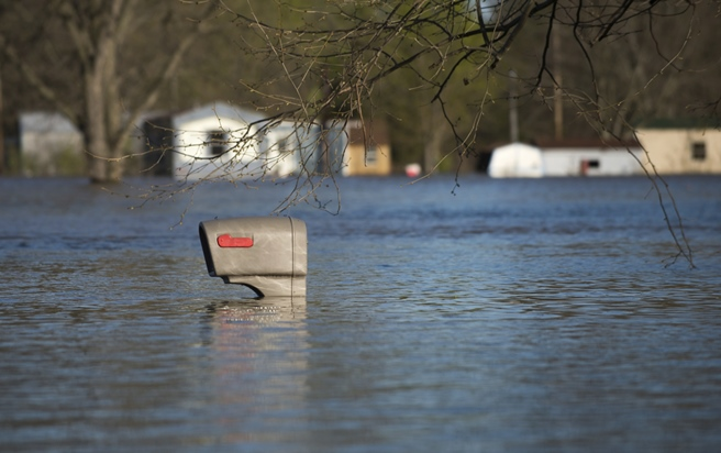 Mailbox in Flooded Neighborhood